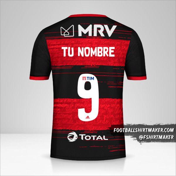 Jersey Flamengo Libertadores 2020 número 9 tu nombre