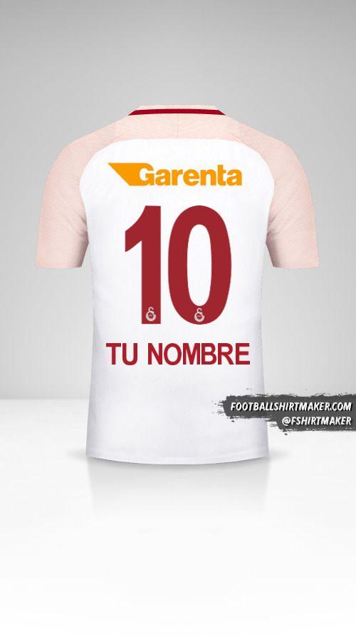 Jersey Galatasaray SK 2017/18 II número 10 tu nombre
