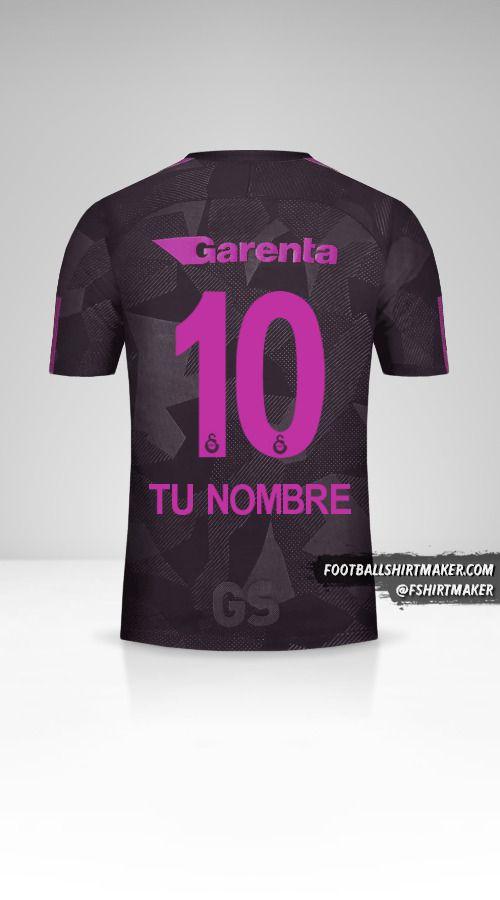 Jersey Galatasaray SK 2017/18 III número 10 tu nombre