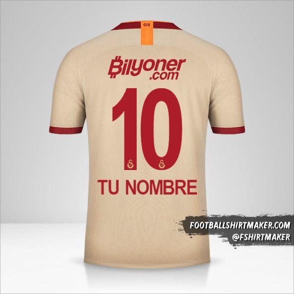 Jersey Galatasaray SK 2019/20 II número 10 tu nombre
