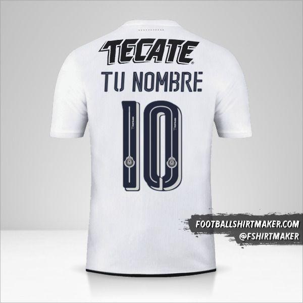 Jersey Guadalajara 2016/17 II número 10 tu nombre