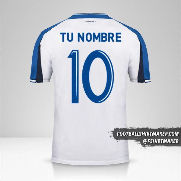 Jersey Honduras 2016/17 número 10 tu nombre