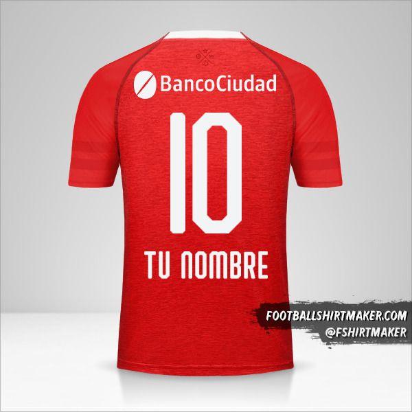 Jersey Independiente 2018/19 número 10 tu nombre