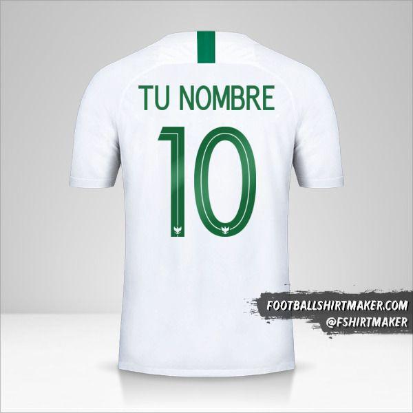 Jersey Indonesia 2018 II número 10 tu nombre