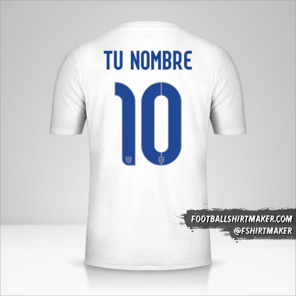 Jersey Inglaterra 2014/15 número 10 tu nombre