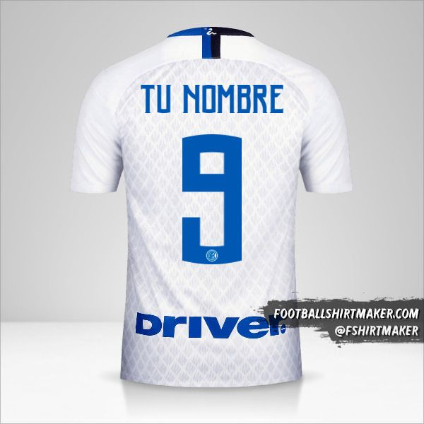Jersey Inter 2018/19 II número 9 tu nombre