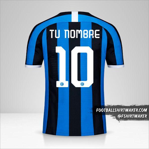 Jersey Inter 2019/20 Cup número 10 tu nombre