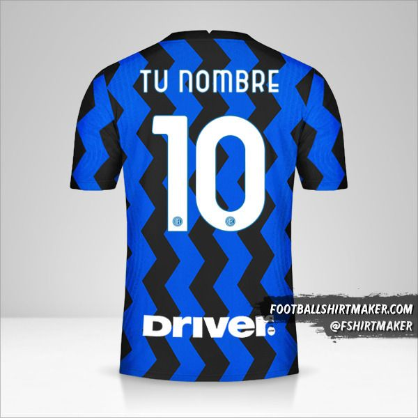 Jersey Inter 2020/21 número 10 tu nombre