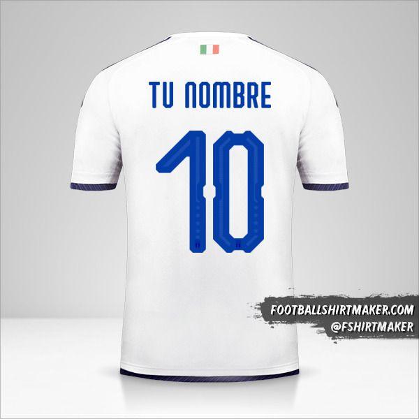 Jersey Italia 2018 II número 10 tu nombre