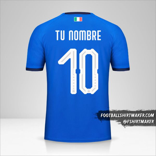 Jersey Italia 2018 número 10 tu nombre
