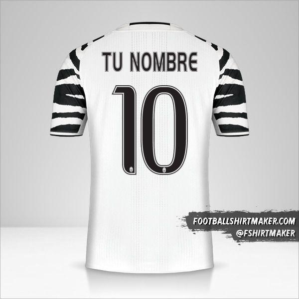 Jersey Juventus FC 2016/17 III número 10 tu nombre