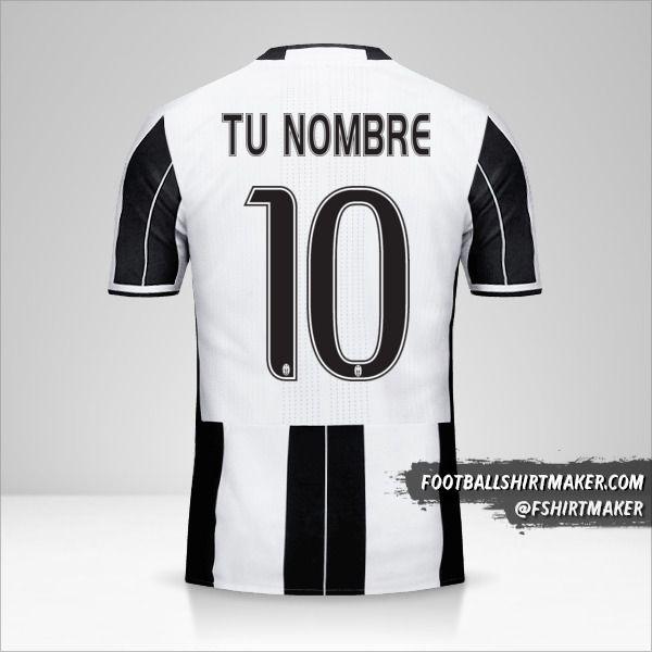 Jersey Juventus FC 2016/17 número 10 tu nombre