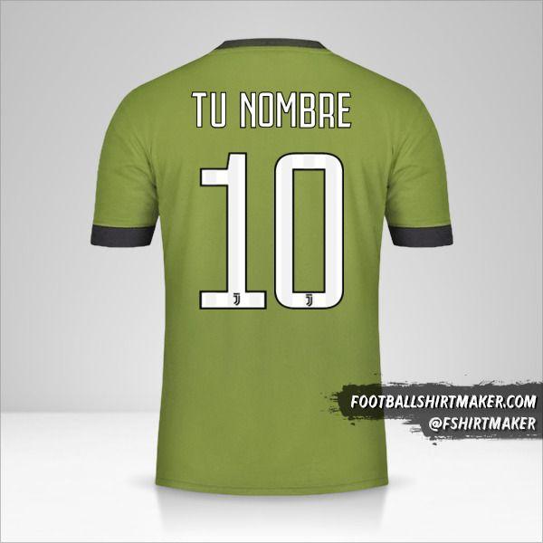 Jersey Juventus FC 2017/18 III número 10 tu nombre
