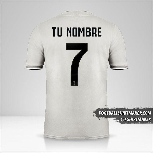 Jersey Juventus FC 2018/19 II Cup número 7 tu nombre
