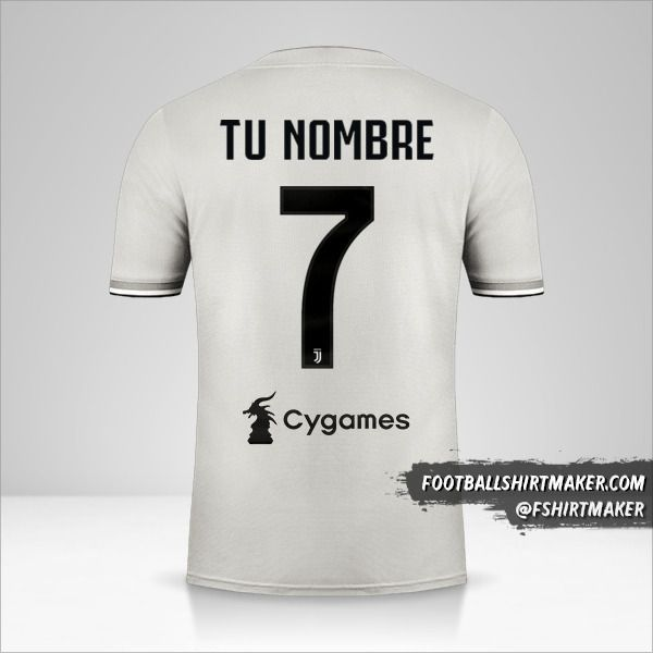 Jersey Juventus FC 2018/19 II número 7 tu nombre