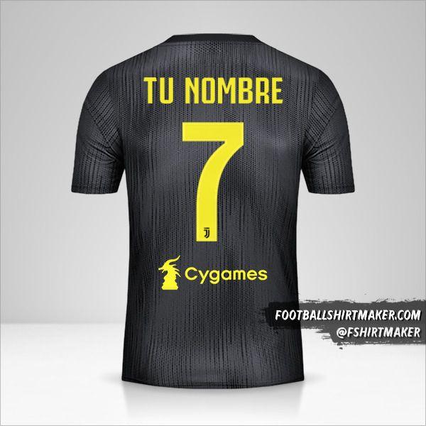 Jersey Juventus FC 2018/19 III número 7 tu nombre