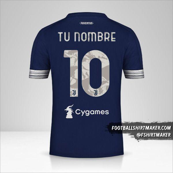 Jersey Juventus FC 2020/21 II número 10 tu nombre