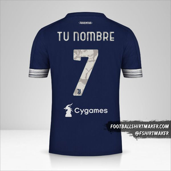 Jersey Juventus FC 2020/21 II número 7 tu nombre