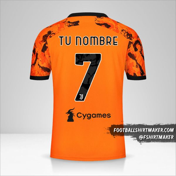 Jersey Juventus FC 2020/21 III número 7 tu nombre