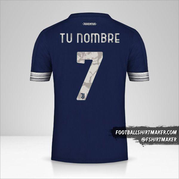 Jersey Juventus FC 2020/21 Cup II número 7 tu nombre