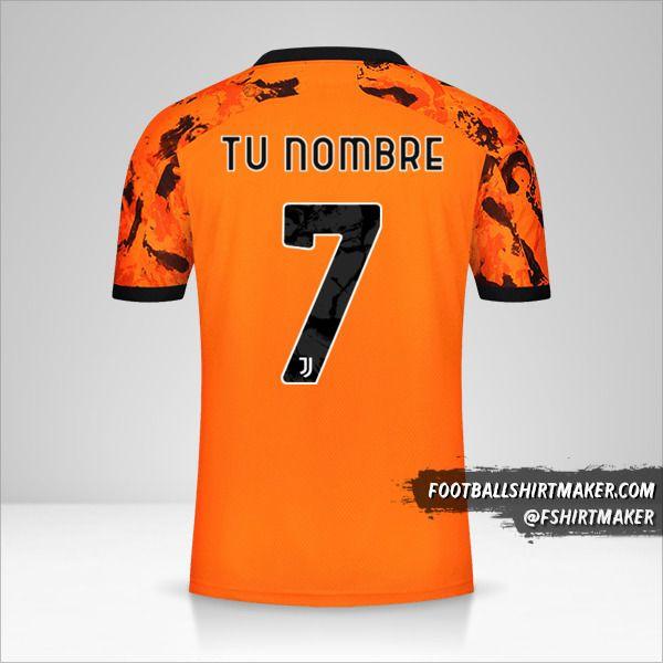 Jersey Juventus FC 2020/21 Cup III número 7 tu nombre