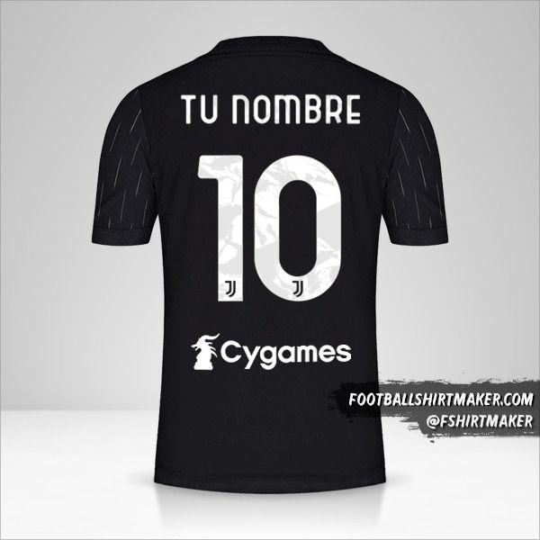 Jersey Juventus FC 2021/2022 II número 10 tu nombre