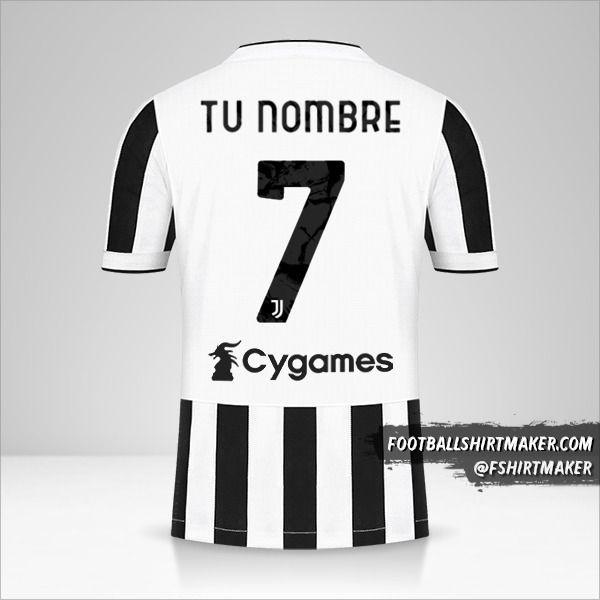 Jersey Juventus FC 2021/2022 número 7 tu nombre