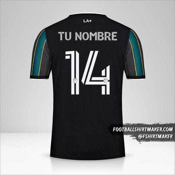 Jersey LA Galaxy 2021 II número 14 tu nombre