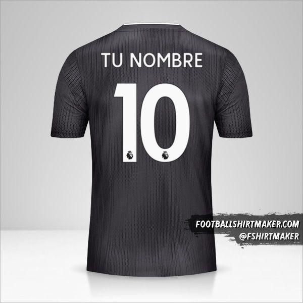 Jersey Leicester City FC 2019/20 II Black número 10 tu nombre
