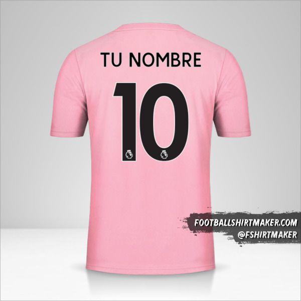 Jersey Leicester City FC 2019/20 II Pink número 10 tu nombre