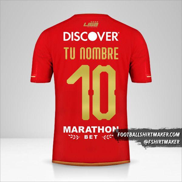 Jersey Liga de Quito 2019 II número 10 tu nombre
