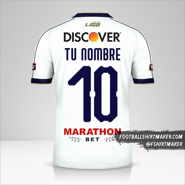 Jersey Liga de Quito 2019 número 10 tu nombre