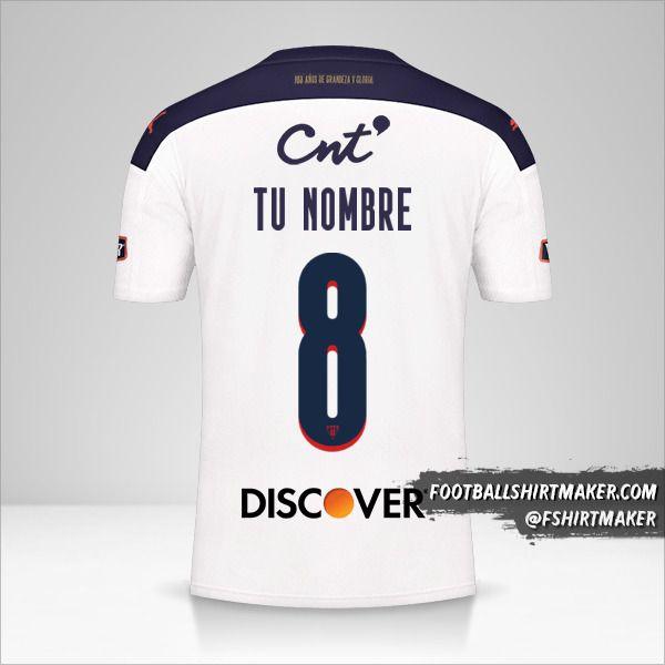 Jersey Liga de Quito 2021 número 8 tu nombre