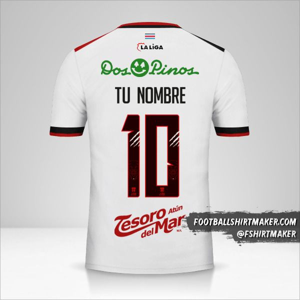 Jersey Liga Deportiva Alajuelense 2018 II número 10 tu nombre