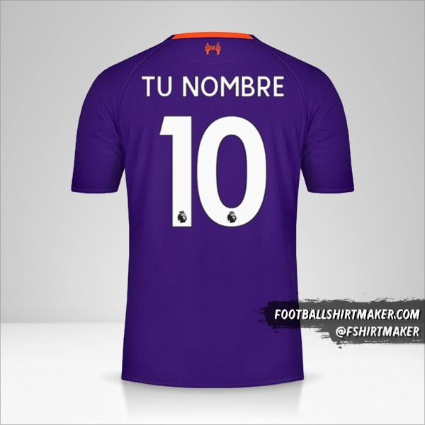 Jersey Liverpool FC 2018/19 II número 10 tu nombre