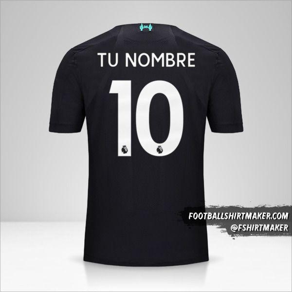 Jersey Liverpool FC 2019/20 III número 10 tu nombre
