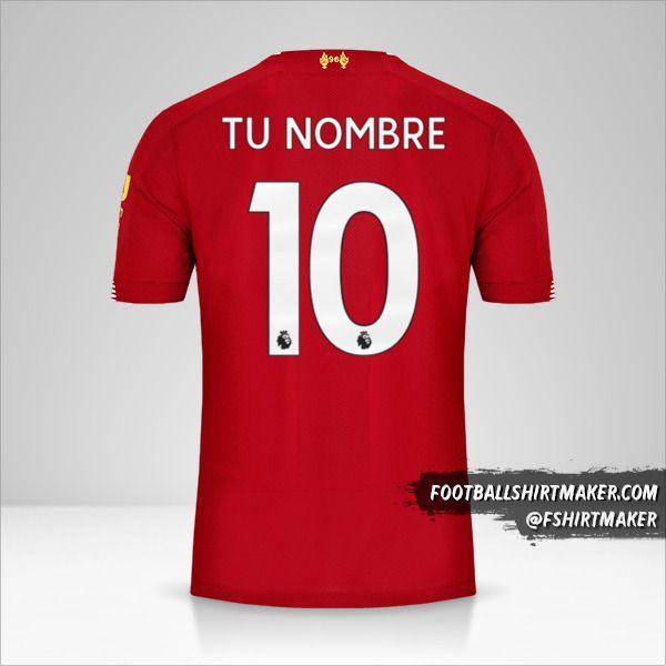 Jersey Liverpool FC 2019/20 número 10 tu nombre