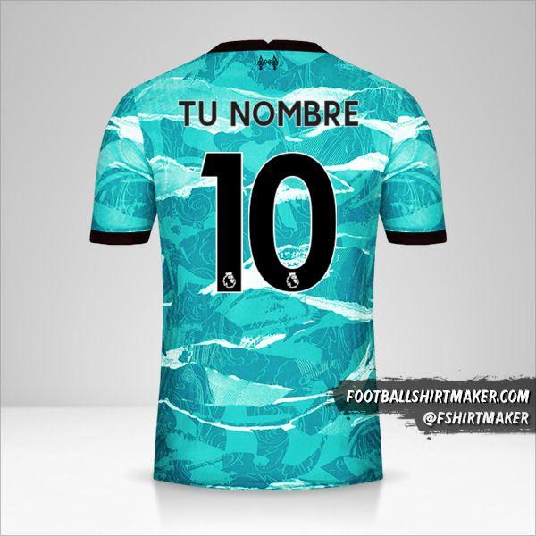 Jersey Liverpool FC 2020/21 II número 10 tu nombre