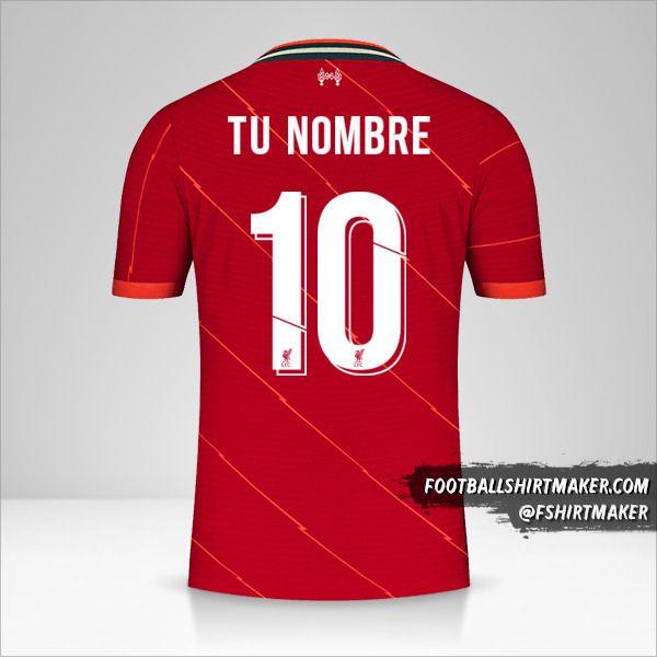 Jersey Liverpool FC 2021/2022 Cup número 10 tu nombre