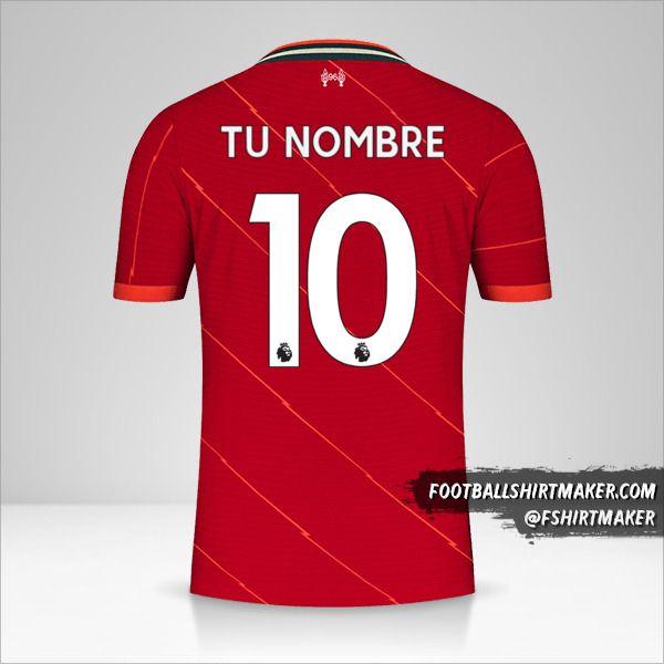 Jersey Liverpool FC 2021/2022 número 10 tu nombre