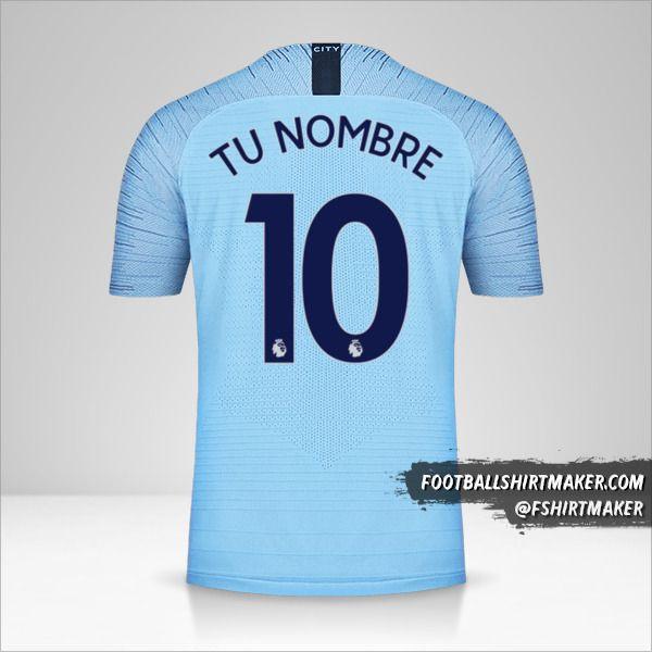Jersey Manchester City 2018/19 número 10 tu nombre