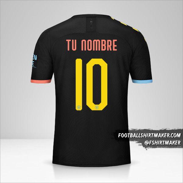 Jersey Manchester City 2019/20 Cup II número 10 tu nombre