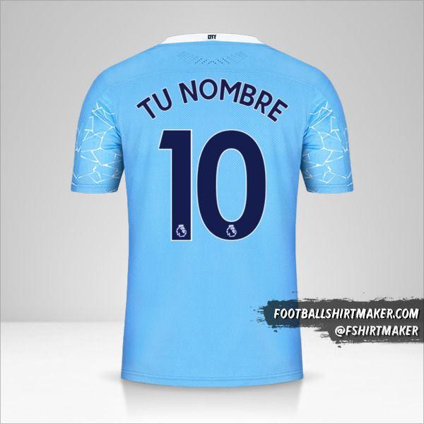 Jersey Manchester City 2020/21 número 10 tu nombre