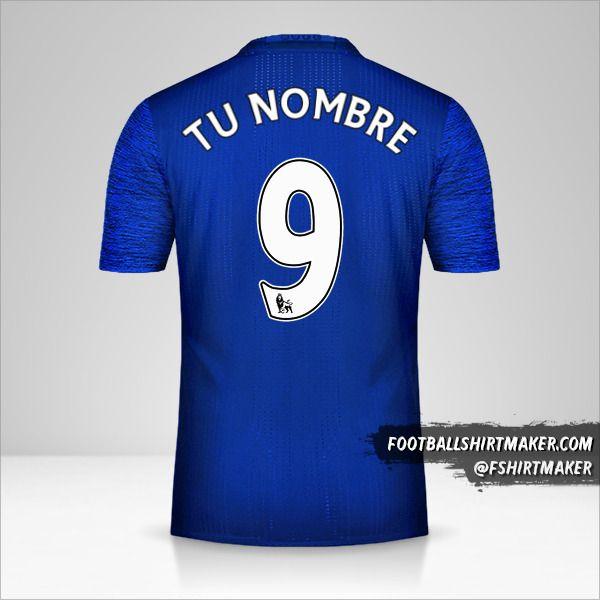 Jersey Manchester United 2016/17 II número 9 tu nombre