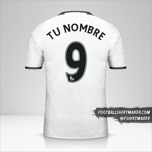 Jersey Manchester United 2016/17 III número 9 tu nombre