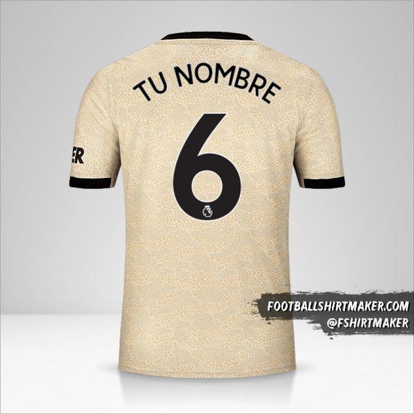 Jersey Manchester United 2019/20 II número 6 tu nombre