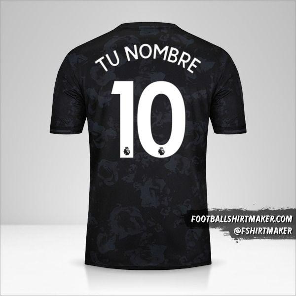 Jersey Manchester United 2019/20 III número 10 tu nombre