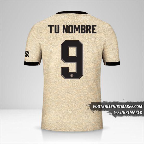 Jersey Manchester United 2019/20 Cup II número 9 tu nombre