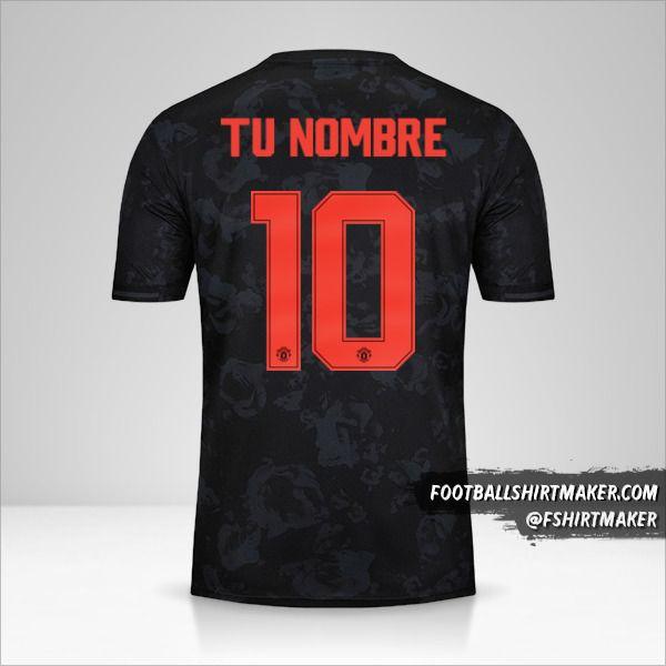 Jersey Manchester United 2019/20 Cup III número 10 tu nombre
