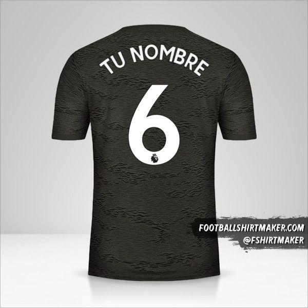 Jersey Manchester United 2020/21 II número 6 tu nombre